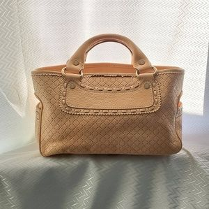 Celine Leather Double Chamber Hand Tote Bag